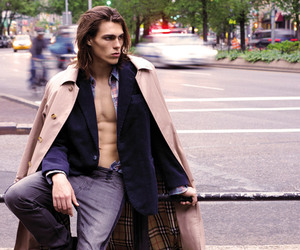 long hair, male model, and travis smith image