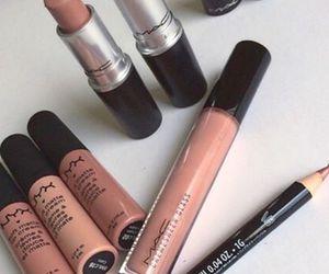 makeup, lipstick, and mac image