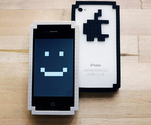 apple, case, and fun image