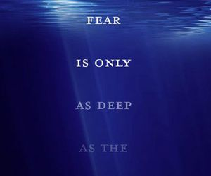 blue, fear, and mind image