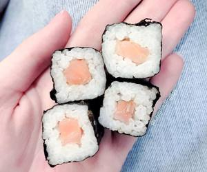 delicious, japanese food, and sushi image