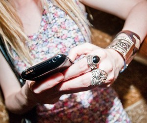 iphone, girl, and jewelry image