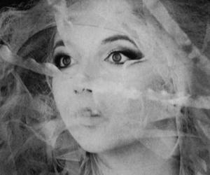 black & white, face, and veil image