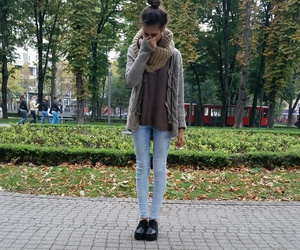 autumn, girl, and sweater image