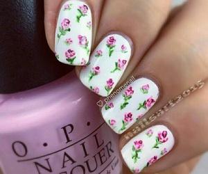 nails, nail polish, and summer image