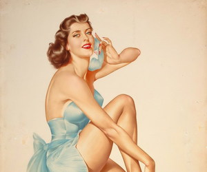 phone, pinup, and vintage image