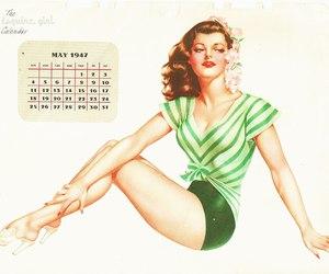 calendar, pinup, and vargas image