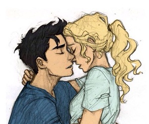 percy jackson, drawing, and couple image