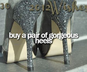 wish, heels, and shoes image