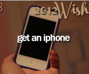 iphone, wishes, and 2012 wishes image