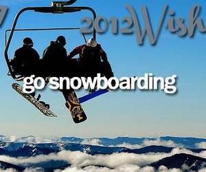 wish, snowboarding, and 2012 wishes image