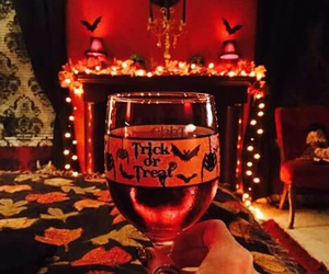 Halloween, party with the dead, and blood drinks image