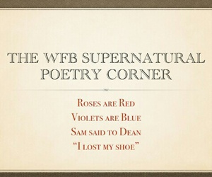 funny, poem, and spn image