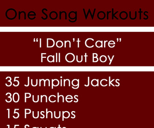 fitness and one song workout image