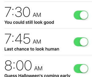 alarm, early, and Halloween image