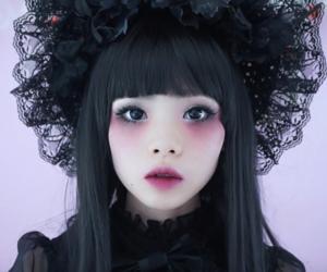 fashion, goth, and kawaii image