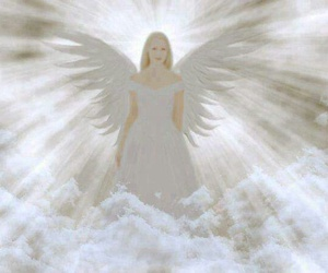 angel, nature, and fantasie image