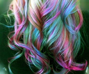 blue, pastel hair, and hair style image