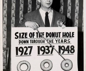 donut, black and white, and funny image