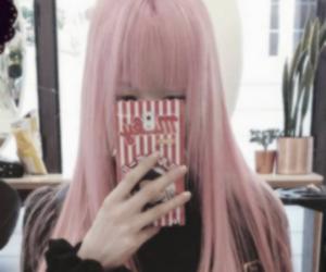 pink hair, ulzzang, and ulzzang icon image