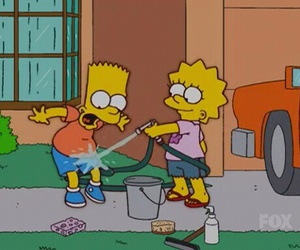 bart, lisa, and lol image