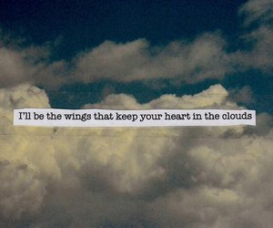 quote, text, and clouds image