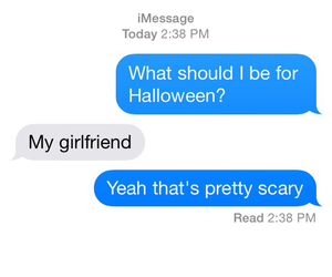 Halloween, funny, and girlfriend image