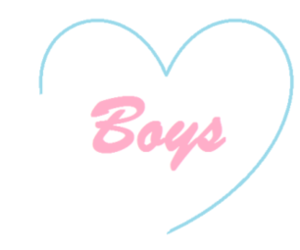 boys, pink, and heart image