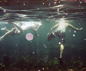 water, hipster, and swim image