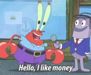 money, spongebob, and cartoon image