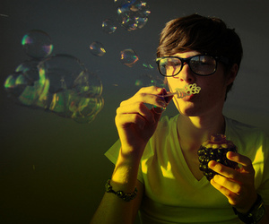 bubbles, boy, and guy image