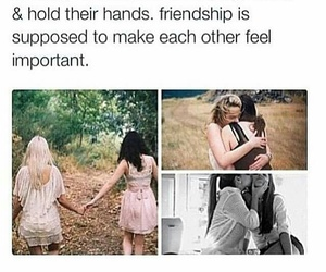 best friends, holding hands, and love image