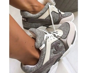chanel, shoes, and grey image