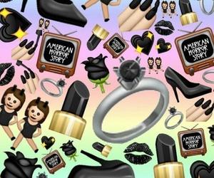 black, emoji, and wallpaper image