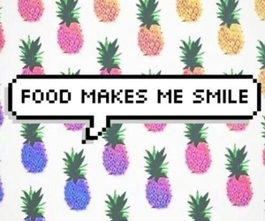 food, smile, and wallpaper image