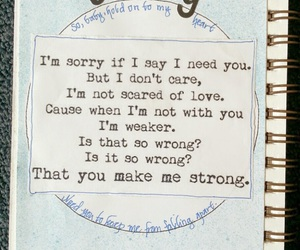 Lyrics, strong, and one direction image