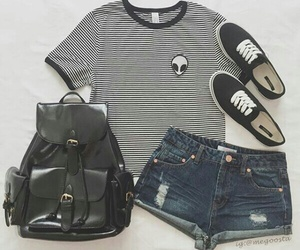 outfit, black, and alien image