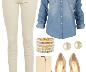 fashion, beige, and jeans image