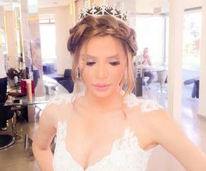 bride, fashion, and hair image