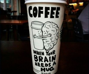 coffee, hug, and brain image