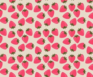 strawberry, background, and pattern image