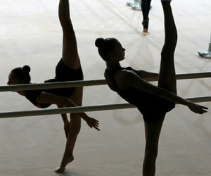 ballet, dance, and rhytmic gymnastic image