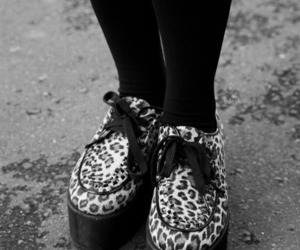 black and white, grunge, and creepers image