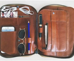 bag, earphones, and organization image