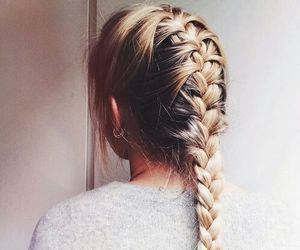 cute and french braid image