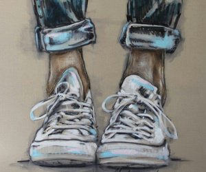 shoes, art, and drawing image