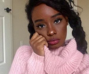 beautiful, black woman, and pretty image