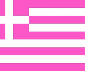 Greece, greek, and pink image