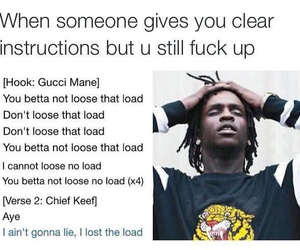 funny, gucci mane, and chief keef image