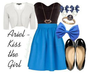 ariel, fashion, and inspired image